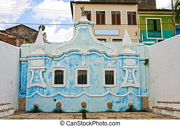 sao luis of maranhao - ancient foutain in the historic...