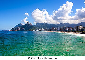 ipanema Leblon - beautiful ipanema Leblon beach in rio de...