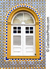 sao luis of maranhao - window house of the historic center...
