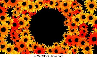 sunflower as wedding background,disco neon flower pattern