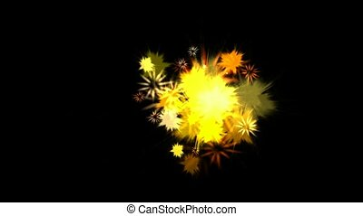 dazzling fireworks at night