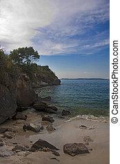 beach, Spain, Galicia, bueu