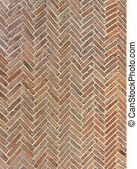 real tuscany terracotta herringbone floor