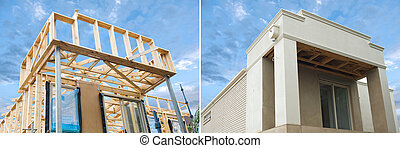 New home construction framing in development - New...