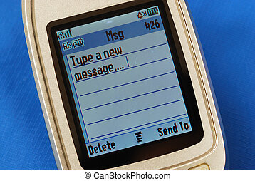 Typing a new SMS text message