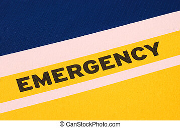 The word Emergency concepts of urgency and risk