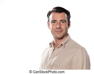 Handsome man portrait - Handsome caucasian man smiling...