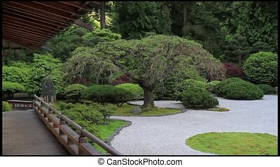 Zen Garden in Japanese Garden