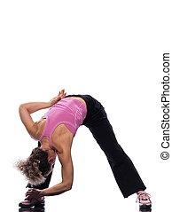 woman stretching posture