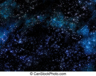 starry sky with nebula - great image of a starry sky with...