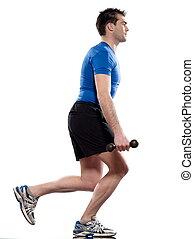 man weight training Worrkout Posture - man exercising weight...
