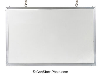 White board isolated over white background