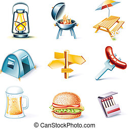 Vector cartoon style icon set P15 - Set of highly detailed...