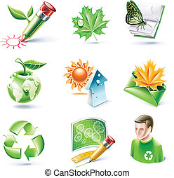 Vector cartoon style icon set. P.18 - Set of highly detailed...