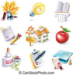 Vector cartoon style icon set. P.25 - Set of highly detailed...