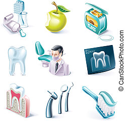 Vector cartoon style icon set P31 - Set of highly detailed...