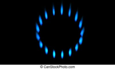 flare blue fire,circle flame dots