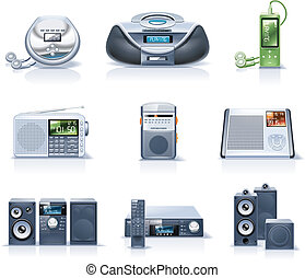 Vector household appliances. P.8 - Set of the detailed...