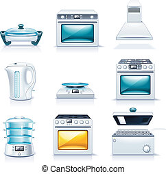 Vector household appliances P2 - Set of the detailed...