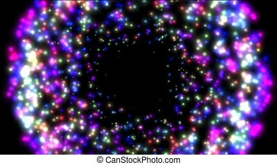 circle stars hole and rays light