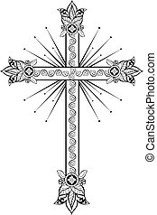 Cross with decorative tips