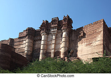 Mehrangarh Fort Jodhpur - view at the Mehrangarh Fort in...