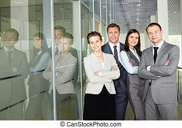Business partners - Row of confident business group looking...