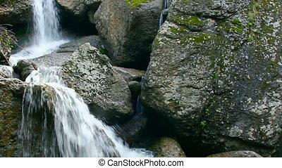waterfall Kukrauk in Russia, Ural