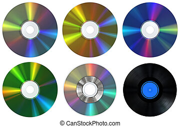 CDs and Record - A collection of CD, DVD, BluRay, Record