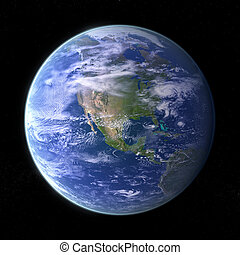 Planet Earth - black - Our own Planet Earth on black...