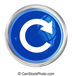 Web Button Reload - A Web Button Reload on white Background...