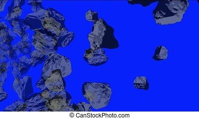 Meteorite tumbling and 3d stone
