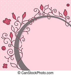 Cute girly floral frame with space for your message