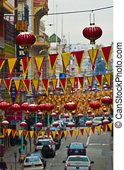 Chinatown - Famous Chinatown neighborhood in San Francisco...