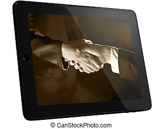 Handshaking on Tablet PC Computer