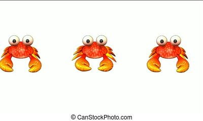 cartoon crabs crawl
