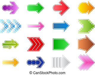 Vector arrows - Set of vector arrows on white background