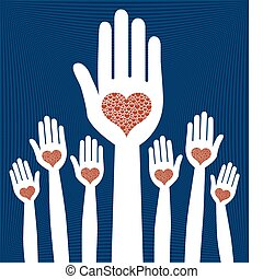 Loving hands design - Loving hands design vector