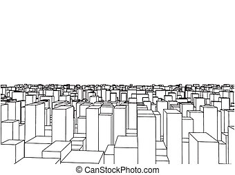 Abstract Urban City Boxes From Cube