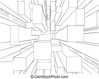Abstract Urban City Center Vector