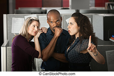 Office Love Trianlge - Woman unhappy with coworker's affair...