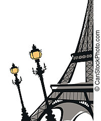 Eiffel Tower - Abstract background with Eiffel Tower