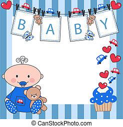 recem nascido, bebê, Menino