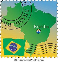 Braslia - capital of Brazil Stamp