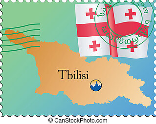 Tbilisi - capital of Georgia. Stamp