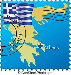 Athens - capital of Greece Stamp