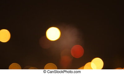 Defocused light, abstract background