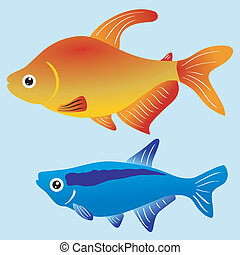 Illustration of fishes