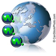 World wide web globe - Illustration symbol www and internet...