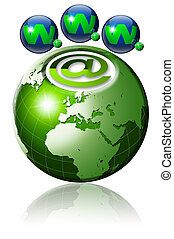 World wide web globe - Illustration symbol www and internet...